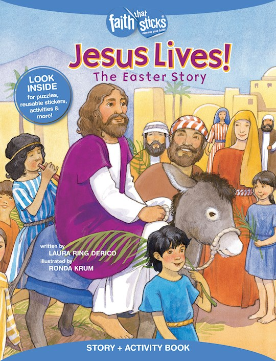 Jesus Lives! The Easter Story Activity Book  (Faith That Sticks) by That Sticks Faith | SHOPtheWORD