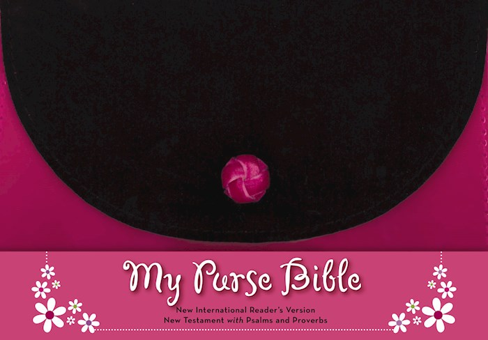 NIrV My Purse Bible New Testament w/Psalsm And Proverbs-Pink/Black LeatherLook (Not Available-Out Of Print)   SHOPtheWORD