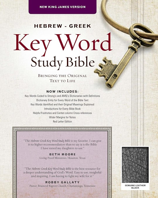 NKJV Hebrew-Greek Key Word Study-Black Genuine Leather   SHOPtheWORD