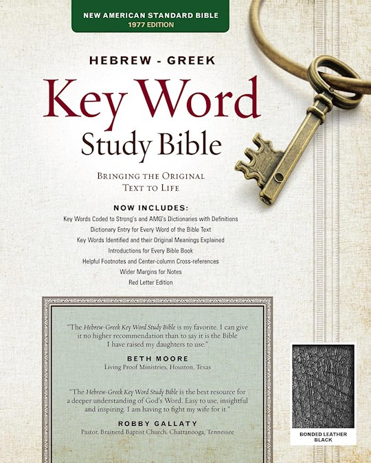 NASB Hebrew-Greek Key Word Study Bible-Black Bonded Leather Indexed | SHOPtheWORD