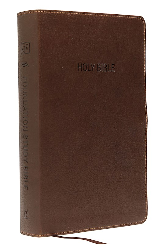 KJV Foundation Study Bible-Earth Brown LeatherSoft Indexed | SHOPtheWORD