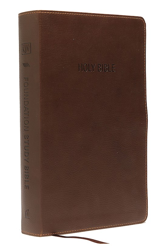 KJV Foundation Study Bible-Earth Brown LeatherSoft | SHOPtheWORD