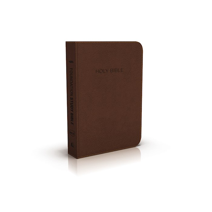 NKJV Foundation Study Bible-Earth Brown LeatherSoft | SHOPtheWORD