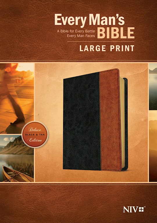 NIV Every Man's Bible/Large Print-Black/Tan TuTone  | SHOPtheWORD