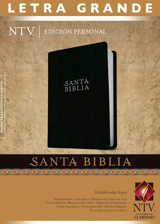 Span-NTV Personal Size Large Print Bible (Edición Personal Letra Grande)-Black Bonded Leather Indexed  | SHOPtheWORD
