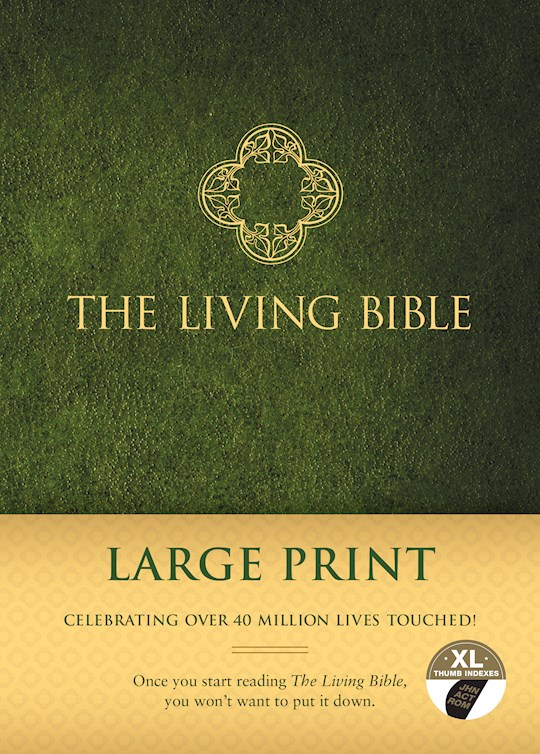 TLB The Living Bible/Large Print-Hardcover Indexed | SHOPtheWORD
