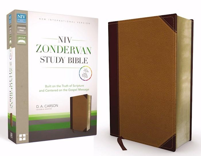 NIV Zondervan Study Bible-Chocolate/Caramel Duo-Tone  | SHOPtheWORD