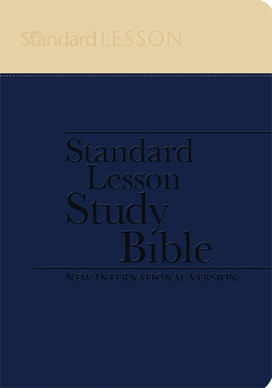 NIV Standard Lesson Study Bible-Blue/Yellow Duo-Tone W/Commentary  | SHOPtheWORD