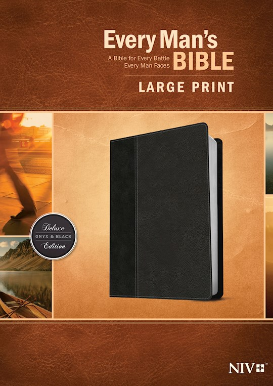 NIV Every Man's Bible/Large Print-Black/Onyx TuTone    SHOPtheWORD