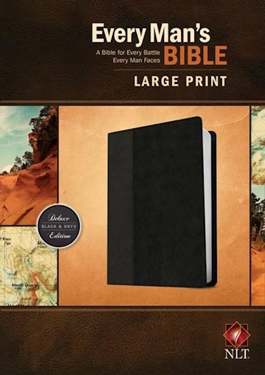 NLT Every Man's Bible/Large Print-Black/Onyx TuTone  | SHOPtheWORD