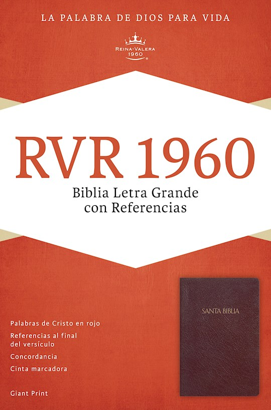Span-RVR 1960 Giant Print Reference Bible (Biblia Letra Gigante con Referencias)-Burgundy LeatherTouch Indexed | SHOPtheWORD