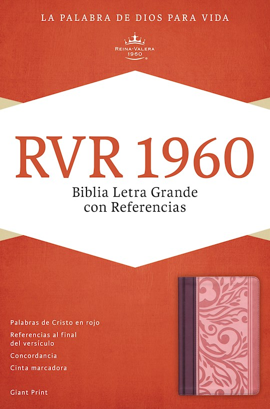 Span-RVR 1960 Giant Print Reference Bible (Biblia Letra Gi-Blush/Wine LeatherTouch (Biblia Letra Grande Con Referencias) | SHOPtheWORD