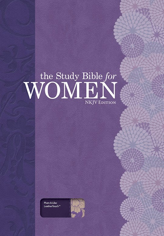 NKJV Study Bible For Women-Plum/Lilac LeatherTouch | SHOPtheWORD