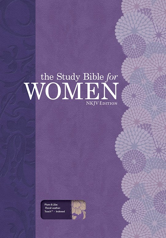 NKJV Study Bible For Women-Plum/Lilac LeatherTouch Indexed | SHOPtheWORD