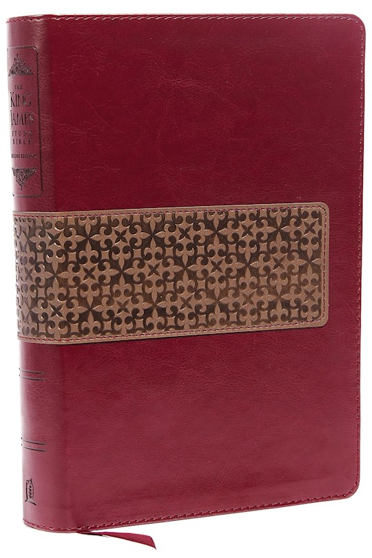 KJV King James Study Bible (Second Edition)-Rich Ruby/Warm Taupe LeatherSoft Indexed   SHOPtheWORD