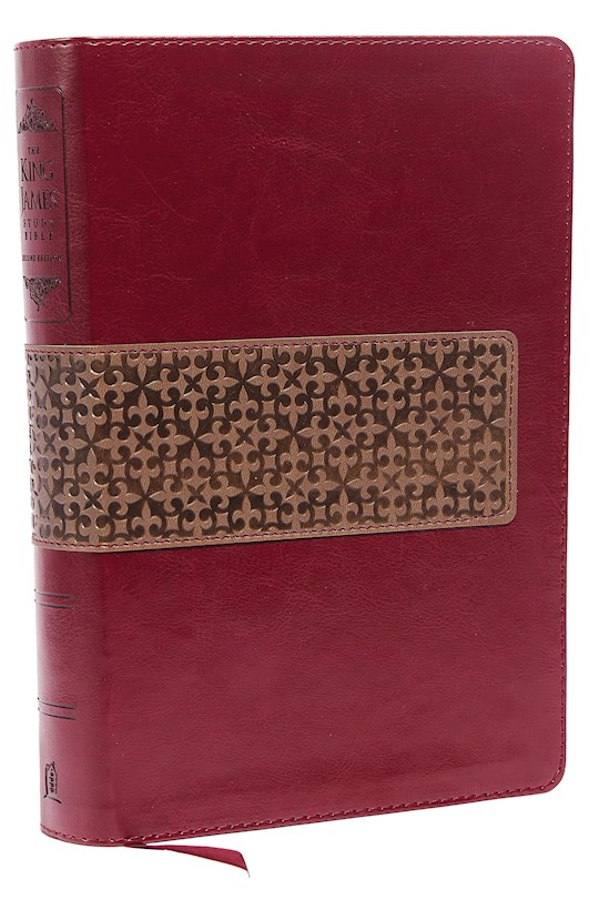 KJV King James Study Bible (Second Edition)-Rich Ruby/Warm Taupe LeatherSoft | SHOPtheWORD