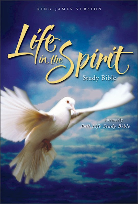 KJV Life In The Spirit Study Bible-Black Genuine | SHOPtheWORD