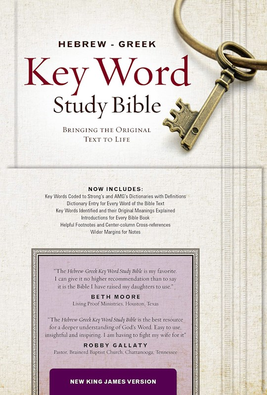 NKJV Hebrew-Greek Key Word Study-Burgundy Genuine Leather Indexed   SHOPtheWORD