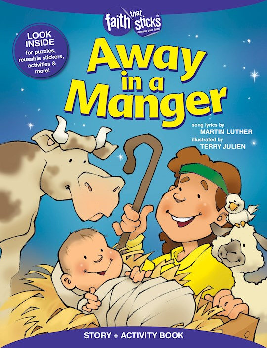 Away In A Manger Activity Book  (Faith That Sticks) by Martin Luther | SHOPtheWORD