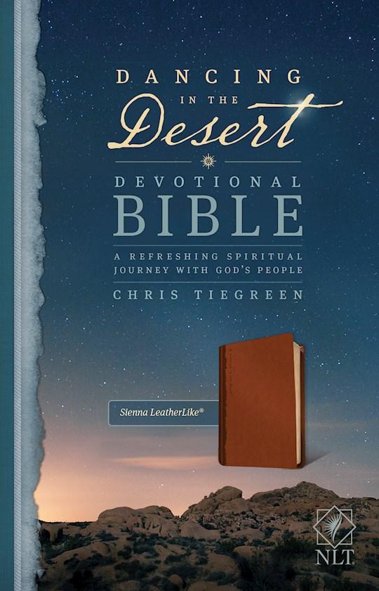 NLT Dancing In The Desert Devotional Bible-Sienna LeatherLike | SHOPtheWORD