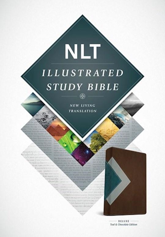 NLT Illustrated Study Bible-Teal/Chocolate TuTone | SHOPtheWORD