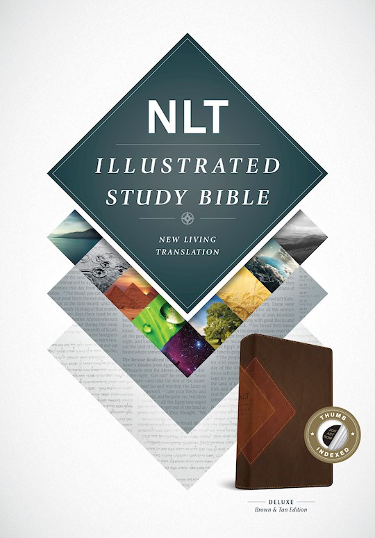NLT Illustrated Study Bible-Brown/Tan TuTone Indexed | SHOPtheWORD