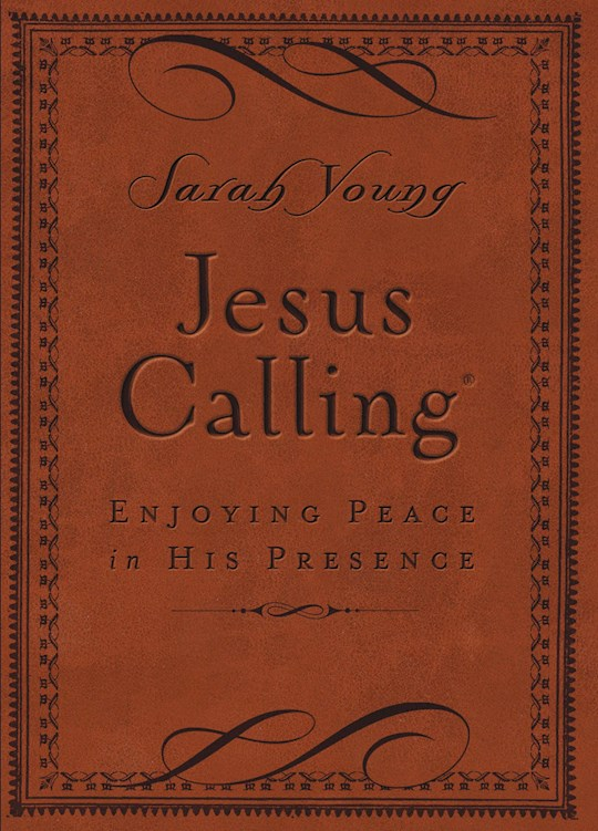 Jesus Calling (Deluxe Edition)-Brown LeatherSoft  by Sarah Young | SHOPtheWORD