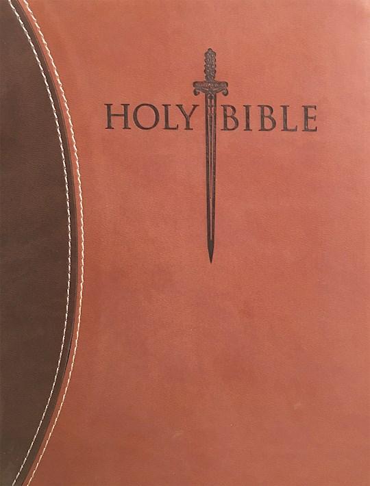 KJVER Sword Study Bible/Personal Size Large Print-Dark Brown/Light Brown Ultrasoft Indexed | SHOPtheWORD