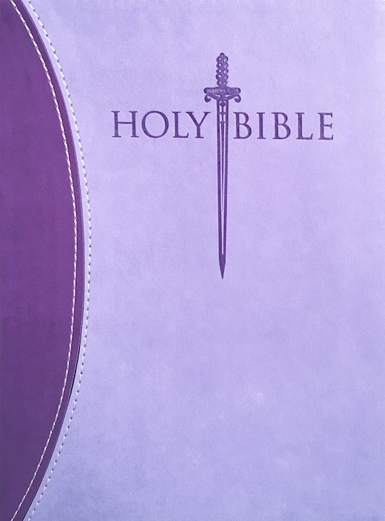 KJVER Sword Study Bible/Personal Size Large Print-Dark Purple/Light Purple Ultrasoft | SHOPtheWORD