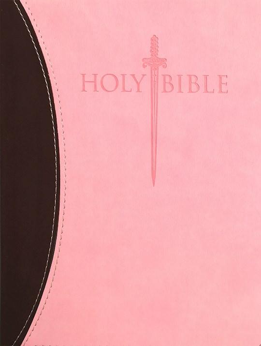 KJVER Sword Study Bible/Personal Size Large Print-Chocolate/Pink Ultrasoft | SHOPtheWORD