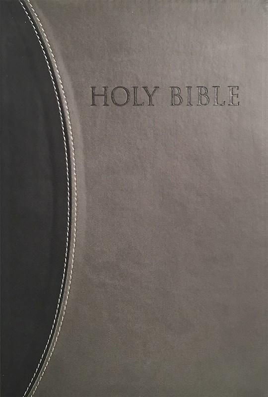 KJVER Thinline Bible/Large Print-Black/Grey Ultrasoft | SHOPtheWORD