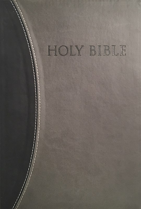 KJVER Thinline Bible/Large Print-Black/Grey Ultrasoft Indexed | SHOPtheWORD