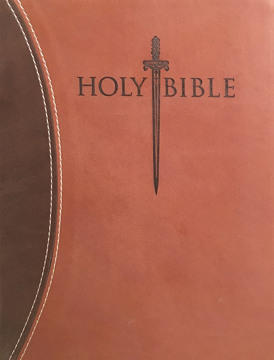 KJVER Thinline Bible/Large Print-Dark Brown/Light Brown Ultrasoft | SHOPtheWORD
