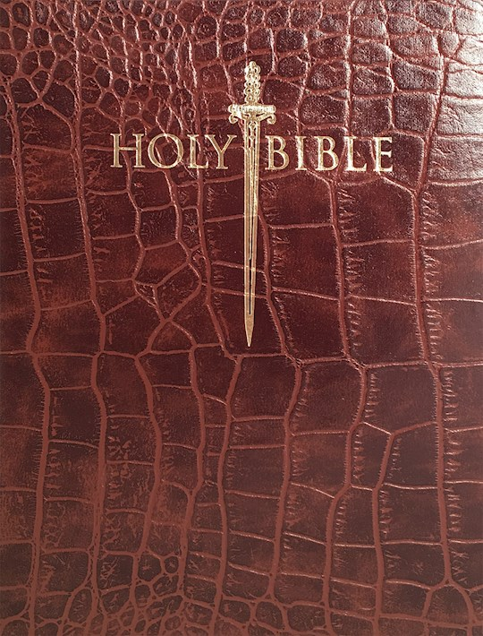 KJV Sword Study Bible/Personal Size Large Print-Walnut Alligator Bonded Leather Indexed  | SHOPtheWORD
