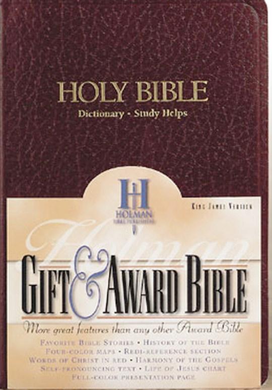 KJV Gift & Award Bible-Burgundy Imitation Leather   SHOPtheWORD