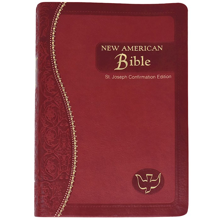 NABRE St. Joseph Edition Confirmation Bible-Red Dura-Lux Imitation Leather | SHOPtheWORD