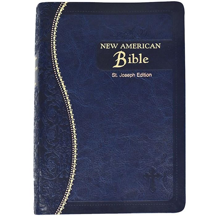 NABRE St. Joseph Edition Medium Size Gift Bible-Blue Imitation Leather | SHOPtheWORD