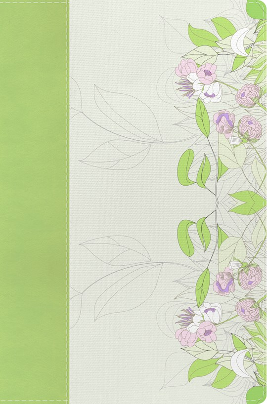 NKJV Study Bible For Women-Willow Green/Wildflower LeatherTouch | SHOPtheWORD
