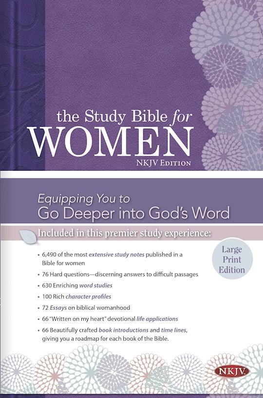 NKJV Study Bible For Women/Large Print-Hardcover | SHOPtheWORD