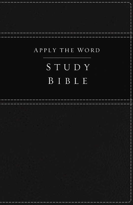 NKJV Apply The Word Study Bible (Full Color)-Black LeatherSoft | SHOPtheWORD