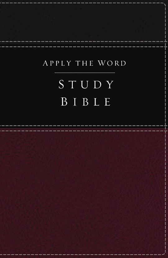 NKJV Apply The Word Study Bible (Full Color)-Deep Rose/Black LeatherSoft | SHOPtheWORD
