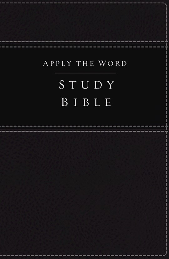 NKJV Apply The Word Study Bible (Full Color)-Black LeatherSoft Indexed | SHOPtheWORD