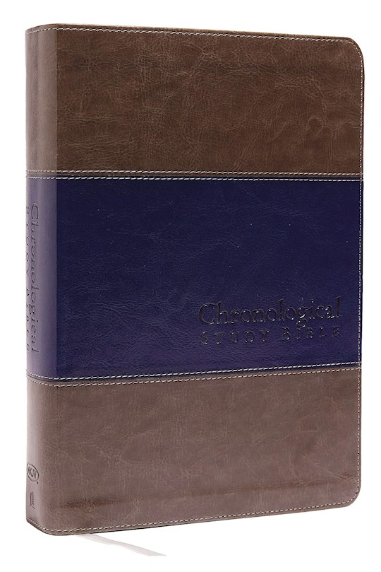 NKJV Chronological Study Bible-Rich Stone/Midnight Blue Leathersoft | SHOPtheWORD