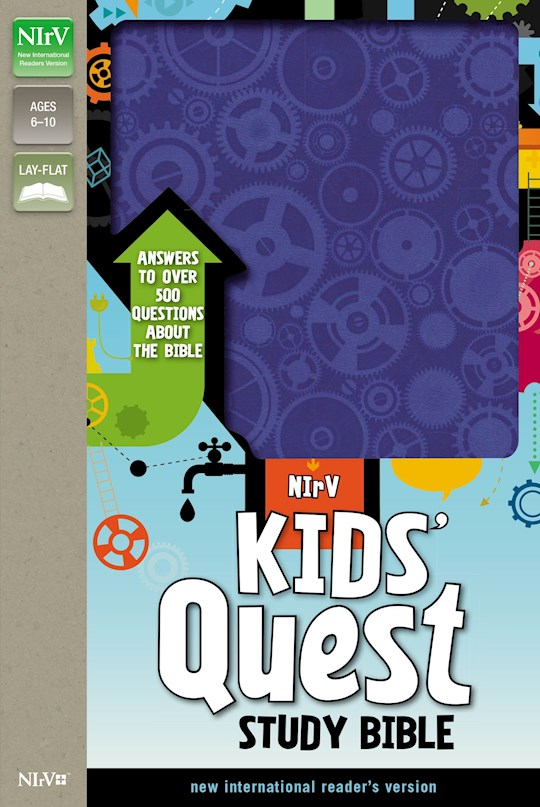 NIrV Kids' Quest Study Bible (Updated)-Blue Duotone   SHOPtheWORD