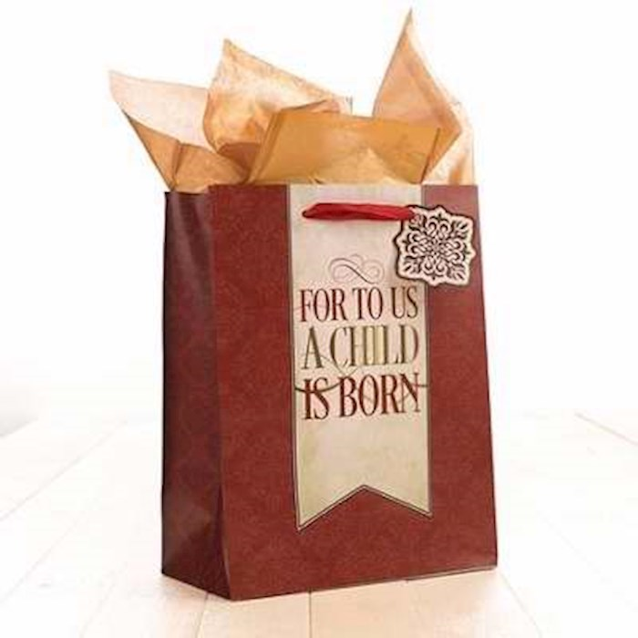 Gift Bag-For To Us w/Tag & Tissue-Medium | SHOPtheWORD