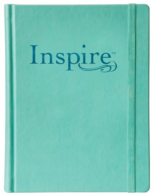 NLT Inspire Bible-Deluxe Teal Hardcover  | SHOPtheWORD