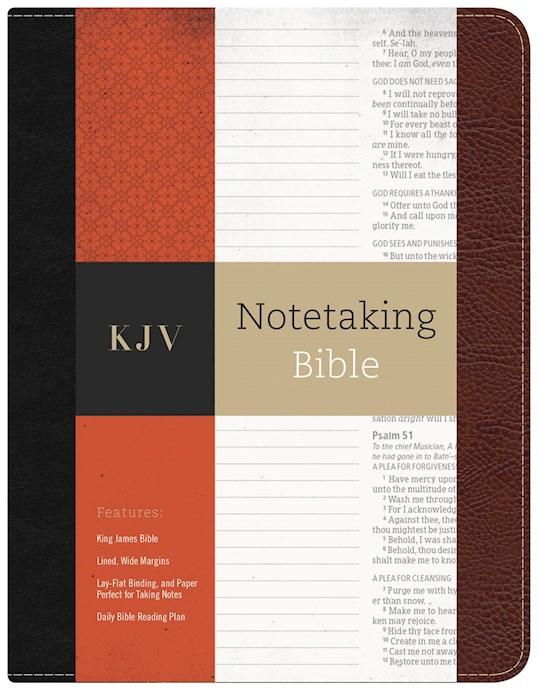 KJV Notetaking Bible-Black/Burgundy Bonded Leather | SHOPtheWORD