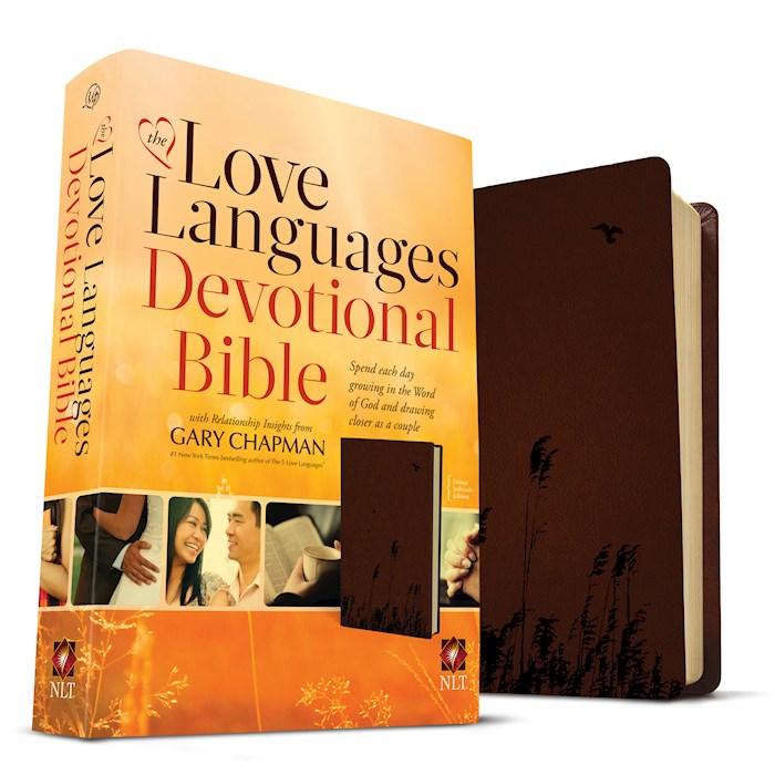 NLT Love Languages Devotional Bible-Chocolate Soft Touch | SHOPtheWORD
