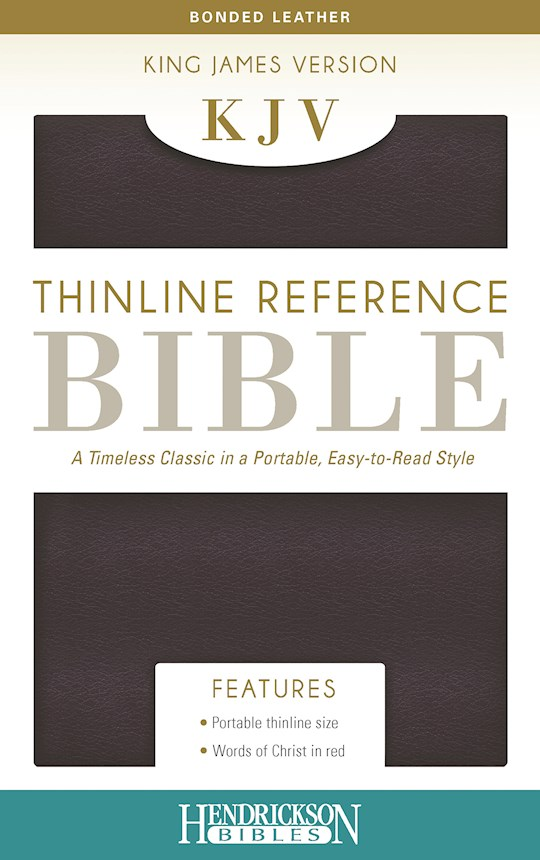 KJV Thinline Reference Bible-Burgundy Bonded Leather | SHOPtheWORD