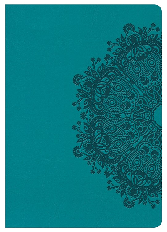 NKJV Large Print Compact Reference Bible-Teal LeatherTouch | SHOPtheWORD